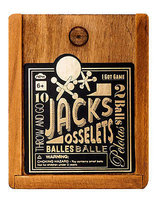 10 JACKS IN A WOODEN BOX: Throw and Go 2 Balls