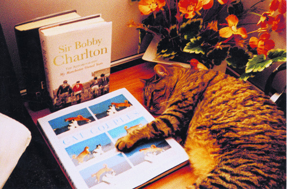 Sir Tom cat from Austria with his latest Bibliophile purchases!\\n\\n28/06/2011 14:30