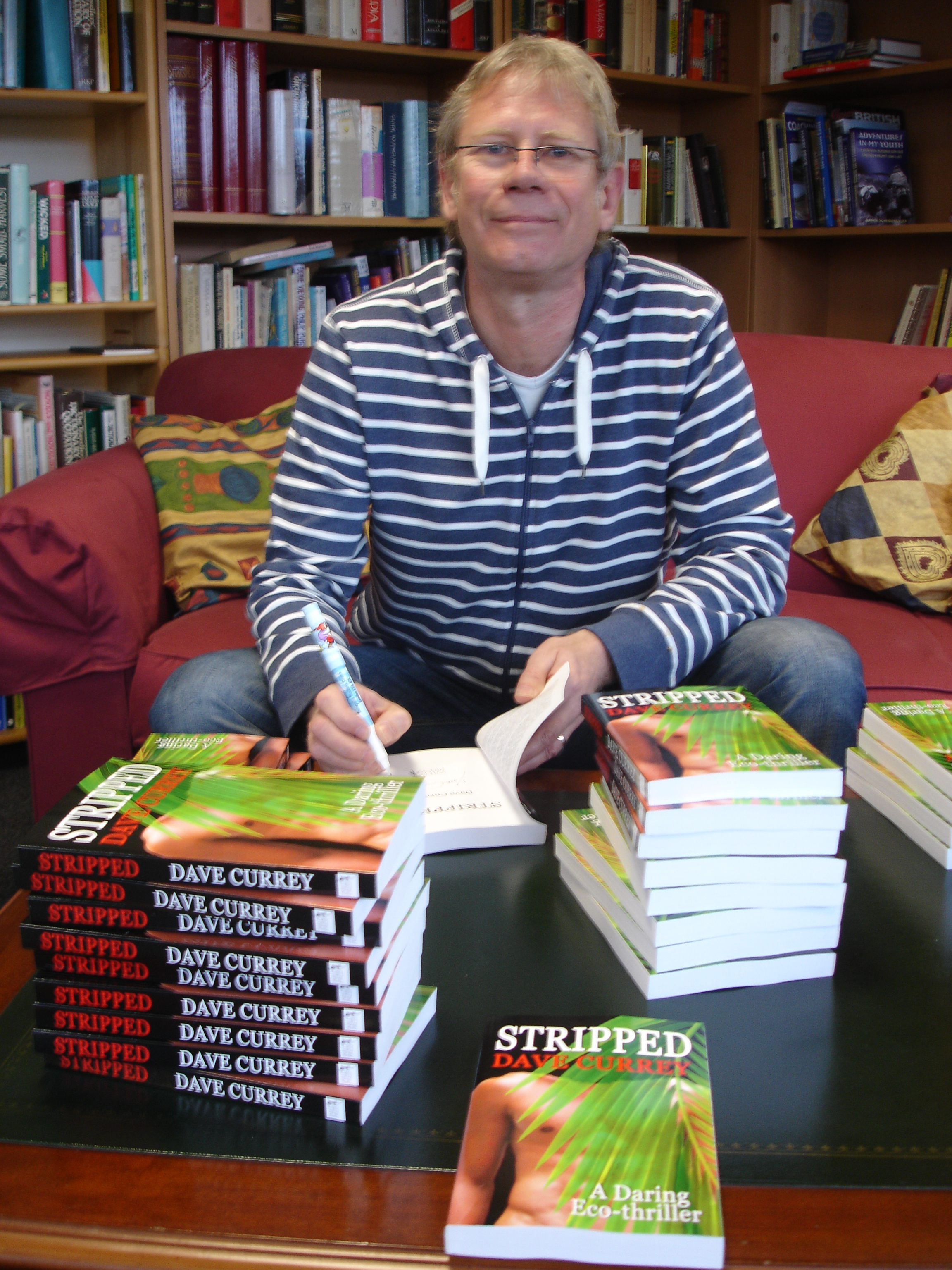 Environmentalist and new author Dave Currey signs his eco thriller Stripped.\\n\\n26/10/2010 15:01