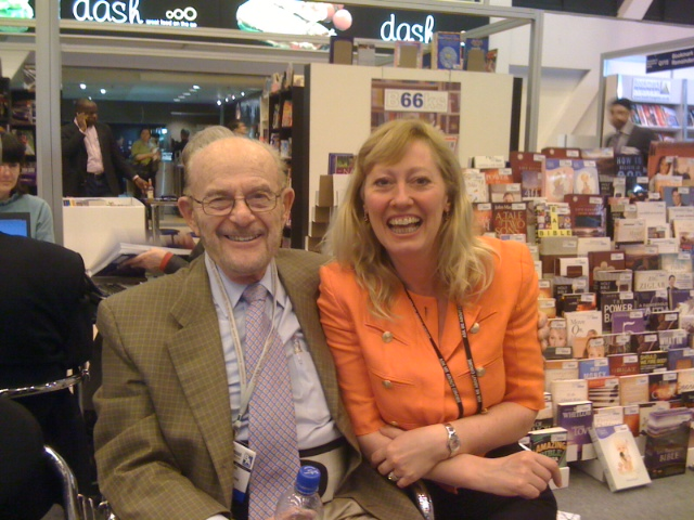 "Fred Bass of Strand Bookstore has been our Annie\'s mentor and best friend in the trade for 25 years. He sold her the business in 1992 and knew her since 1985 at Booksmith of which he was co owner with Bill Smith. Together hey swoop on book stands to buy books ""like herons"", getting the best pickings! / {Location}: London Book Fair, Earls Court 2012\\n\\n17/04/2012 14:29"